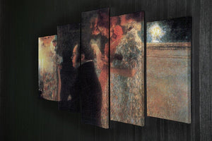 Schubert at the piano by Klimt 5 Split Panel Canvas - Canvas Art Rocks - 2