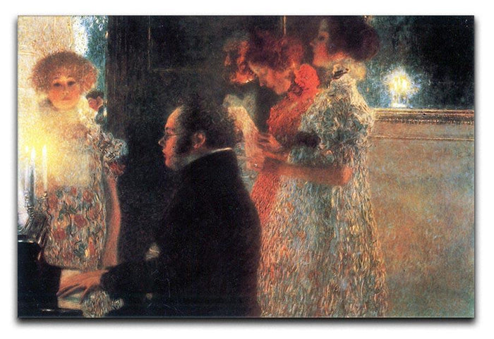 Schubert at the piano by Klimt Canvas Print or Poster