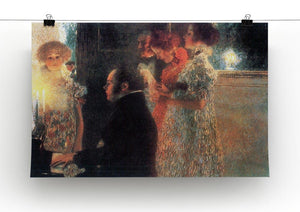 Schubert at the piano by Klimt Canvas Print or Poster - Canvas Art Rocks - 2