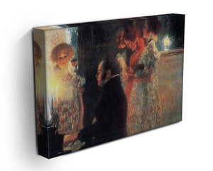 Schubert at the piano by Klimt Canvas Print or Poster - Canvas Art Rocks - 3