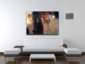 Schubert at the piano by Klimt Canvas Print or Poster - Canvas Art Rocks - 4