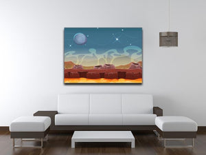 Sci-Fi Alien Planet Canvas Print or Poster - Canvas Art Rocks - 4