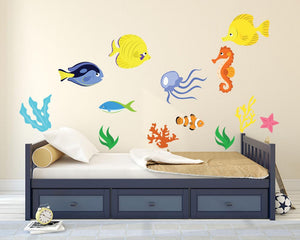 Sea Life Wall Decal Collection - Canvas Art Rocks