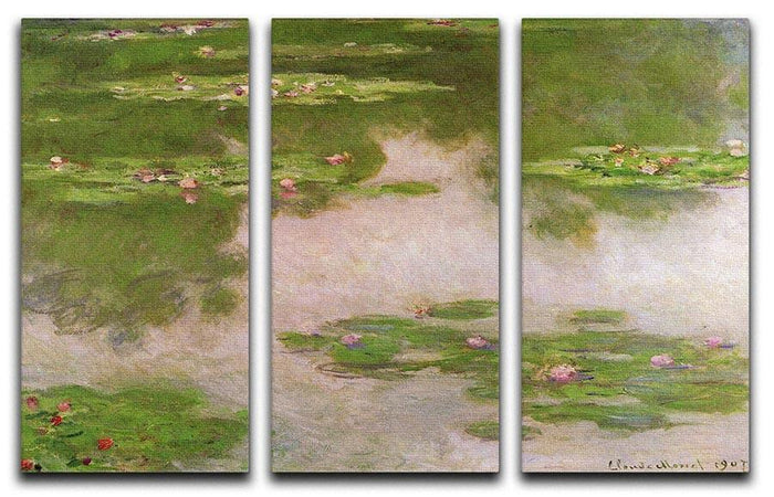 Sea roses 2 by Monet Split Panel Canvas Print