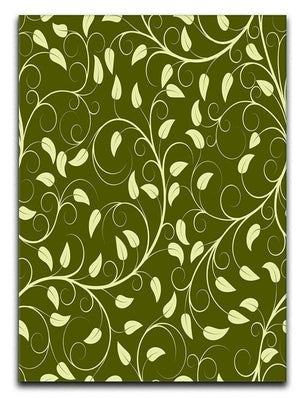 Seamless pattern from green plants Canvas Print or Poster  - Canvas Art Rocks - 1