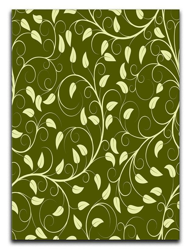 Seamless pattern from green plants Canvas Print or Poster