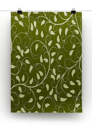 Seamless pattern from green plants Canvas Print or Poster - Canvas Art Rocks - 2