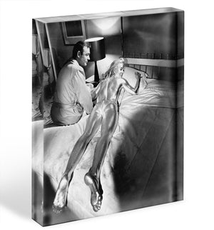 Sean Connery and Shirley Eaton in Goldfinger Acrylic Block - Canvas Art Rocks - 1