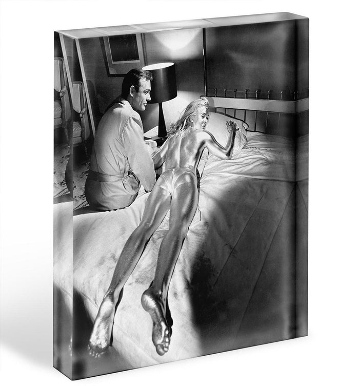 Sean Connery and Shirley Eaton in Goldfinger Acrylic Block