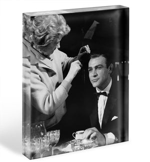 Sean Connery on set 1964 Acrylic Block - Canvas Art Rocks - 1