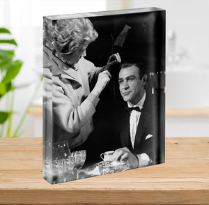 Sean Connery on set 1964 Acrylic Block - Canvas Art Rocks - 2