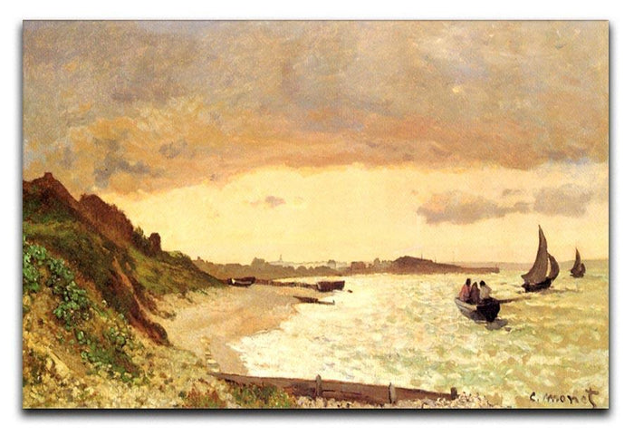 Seaside at Sainte Adresse by Monet Canvas Print or Poster