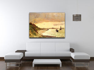 Seaside at Sainte Adresse by Monet Canvas Print & Poster - Canvas Art Rocks - 4