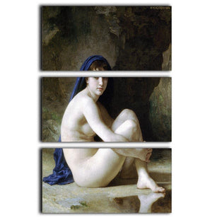 Seated Nude By Bouguereau 3 Split Panel Canvas Print - Canvas Art Rocks - 1