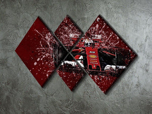 Sebastian Vettel F1 Paint Splatter 4 Square Multi Panel Canvas - Canvas Art Rocks - 2