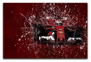Sebastian Vettel F1 Paint Splatter Canvas Print or Poster  - Canvas Art Rocks - 1
