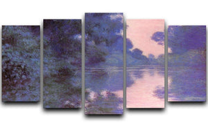 Seine arm at Giverny by Monet 5 Split Panel Canvas  - Canvas Art Rocks - 1
