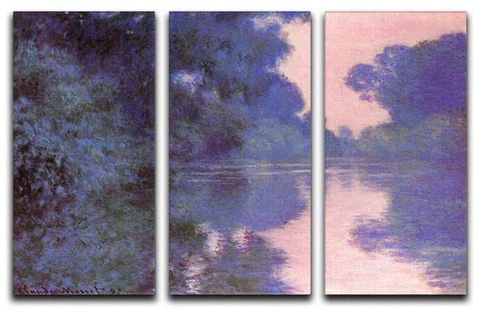 Seine arm at Giverny by Monet Split Panel Canvas Print