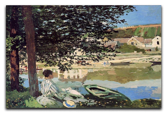 Seine bank at Vethueil by Monet Canvas Print or Poster