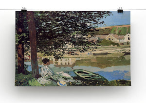 Seine bank at Vethueil by Monet Canvas Print & Poster - Canvas Art Rocks - 2