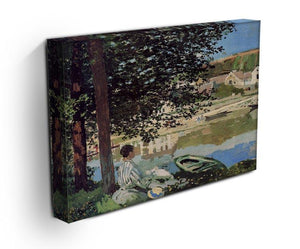 Seine bank at Vethueil by Monet Canvas Print & Poster - Canvas Art Rocks - 3