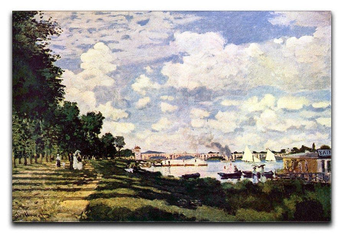 Seine basin near Argenteuil by Monet Canvas Print or Poster