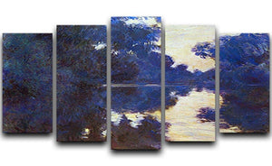 Seine in Morning 2 by Monet 5 Split Panel Canvas  - Canvas Art Rocks - 1