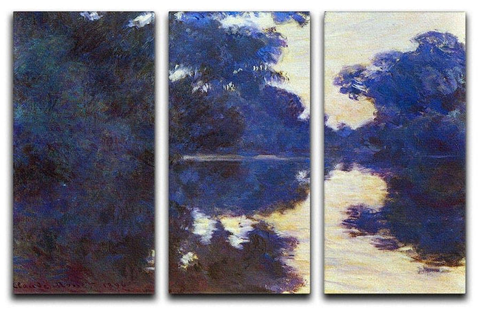 Seine in Morning 2 by Monet Split Panel Canvas Print