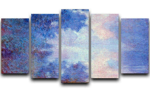 Seine in Morning by Monet 5 Split Panel Canvas  - Canvas Art Rocks - 1