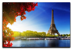 Seine in Paris with Eiffel tower Canvas Print or Poster  - Canvas Art Rocks - 1