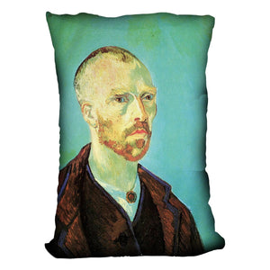 Self-Portrait Dedicated to Paul Gauguin by Van Gogh Throw Pillow