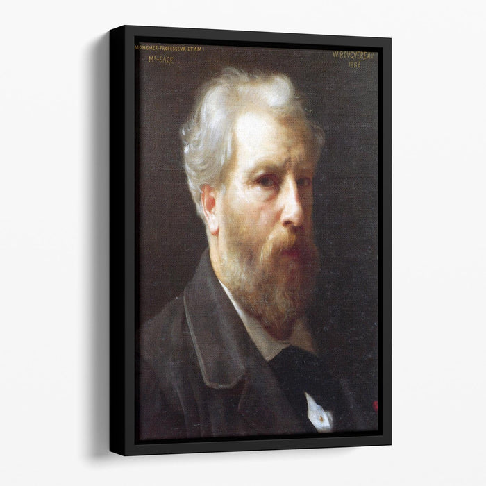 Self-Portrait Presented To M Sage By Bouguereau Floating Framed Canvas