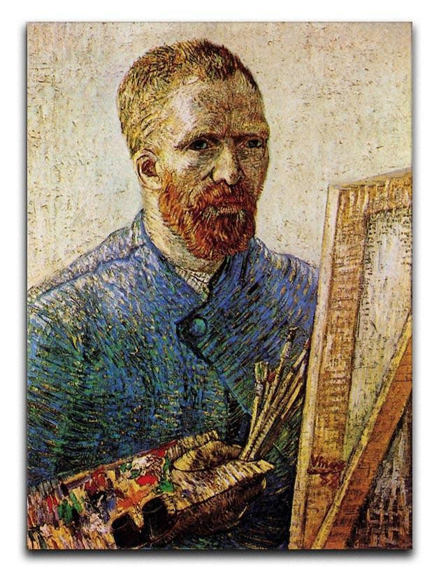 Self-Portrait in Front of the Easel by Van Gogh Canvas Print or Poster