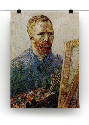 Self-Portrait in Front of the Easel by Van Gogh Canvas Print & Poster - Canvas Art Rocks - 2