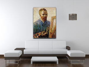 Self-Portrait in Front of the Easel by Van Gogh Canvas Print & Poster - Canvas Art Rocks - 4