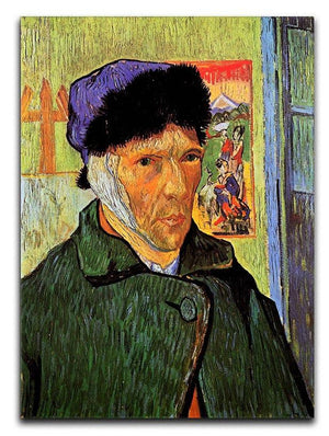 Self-Portrait with Bandaged Ear by Van Gogh Canvas Print & Poster  - Canvas Art Rocks - 1