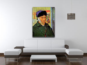 Self-Portrait with Bandaged Ear by Van Gogh Canvas Print & Poster - Canvas Art Rocks - 4
