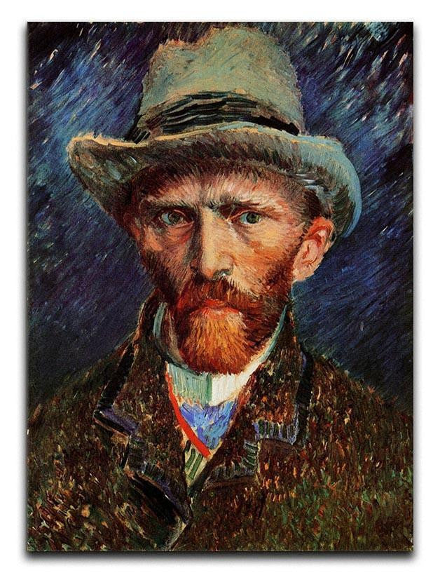 Self-Portrait with Grey Felt Hat by Van Gogh Canvas Print or Poster