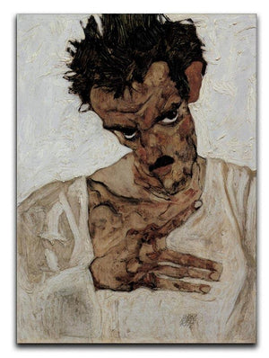 Self-portrait with lowered head by Egon Schiele Canvas Print or Poster - Canvas Art Rocks - 1