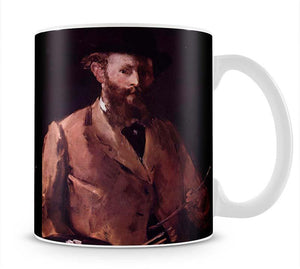 Self Portrait with Pallette by Manet Mug - Canvas Art Rocks - 1