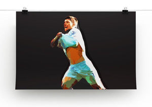 Sergio Aguero Print - Canvas Art Rocks - 2