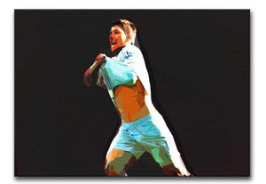 Sergio Aguero Print - Canvas Art Rocks - 1