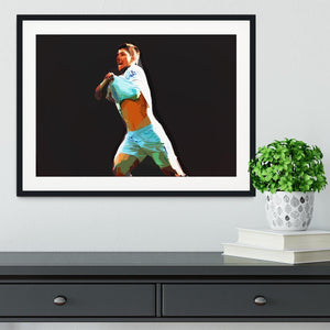 Sergio Aguero Framed Print - Canvas Art Rocks - 1