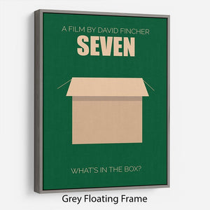 Seven Minimal Movie Floating Frame Canvas - Canvas Art Rocks - 3