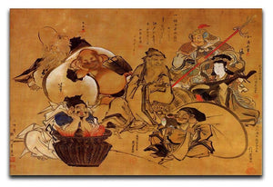 Seven gods of fortune by Hokusai Canvas Print or Poster  - Canvas Art Rocks - 1