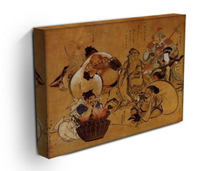 Seven gods of fortune by Hokusai Canvas Print or Poster - Canvas Art Rocks - 3