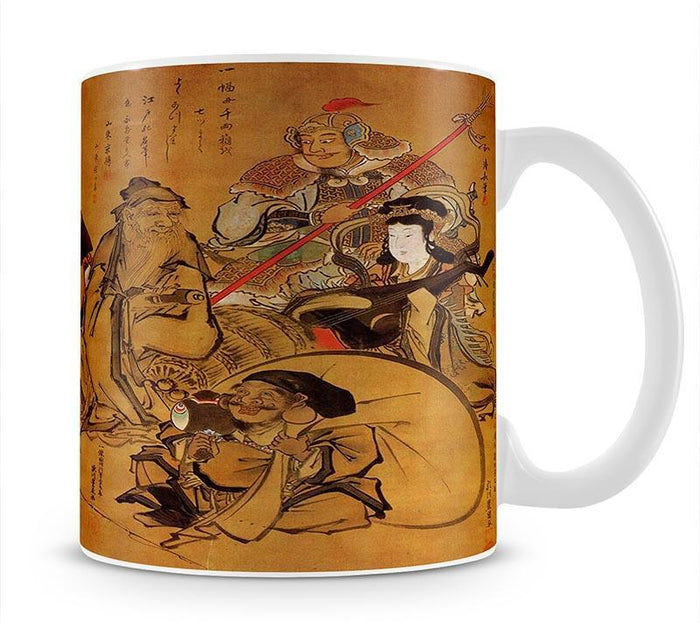 Seven gods of fortune by Hokusai Mug