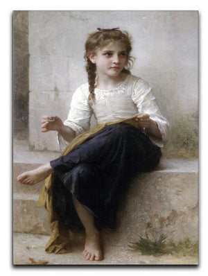Sewing By Bouguereau Canvas Print or Poster  - Canvas Art Rocks - 1
