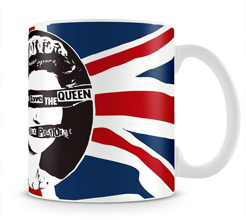 Sex Pistols God Save The Queen Cup - Canvas Art Rocks - 1