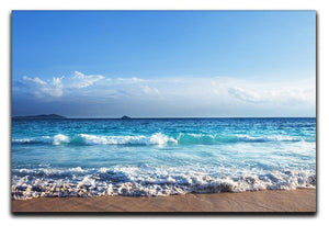 Seychelles beach in sunset time Canvas Print or Poster  - Canvas Art Rocks - 1